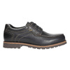 Kožené polobotky s prošitím na špici bata, černá, 826-6640 - 15