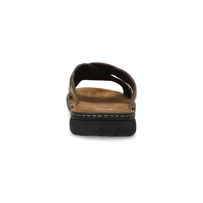 Kožené pánské letní nazouváky bata, hnědá, 866-4612 - 15
