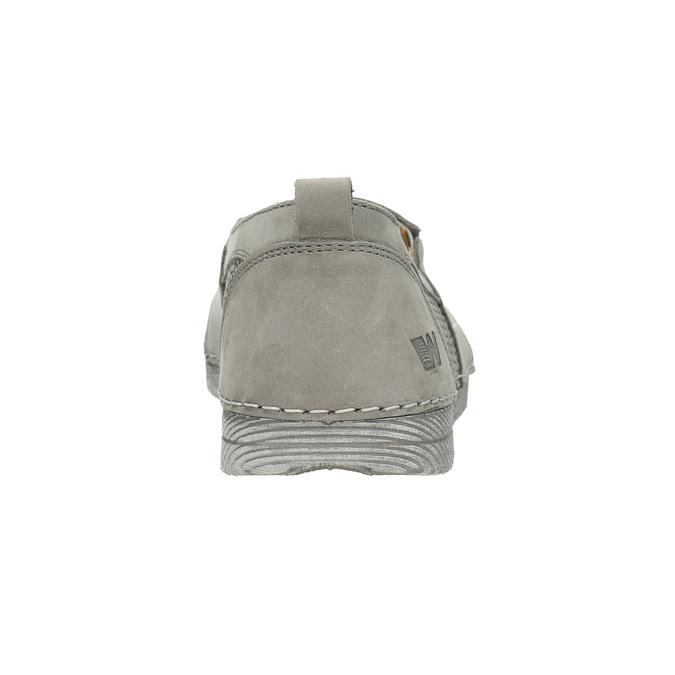 Dámské kožené Slip-on weinbrenner, šedá, 513-2263 - 17