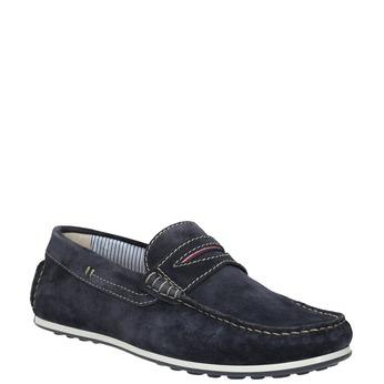 Mokasíny z broušené kůže bata, modrá, 853-9614 - 13