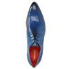 Pánské kožené polobotky s perforací melvinandhamilton, modrá, 826-9061 - 19