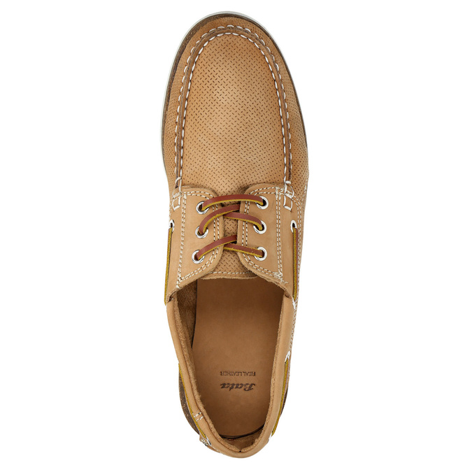 Kožené Boat Shoes bata, hnědá, 856-3604 - 19
