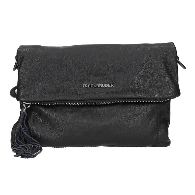 Černá kožená Crossbody kabelka fredsbruder, černá, 964-6037 - 19