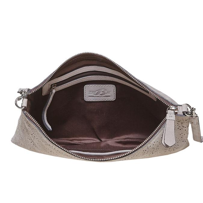 Kožená Crossbody kabelka bata, šedá, 963-2135 - 15