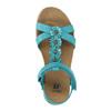Dětské sandály s kytičkami mini-b, tyrkysová, 361-9601 - 19
