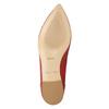 Červené kožené baleríny bata, červená, 524-5604 - 19