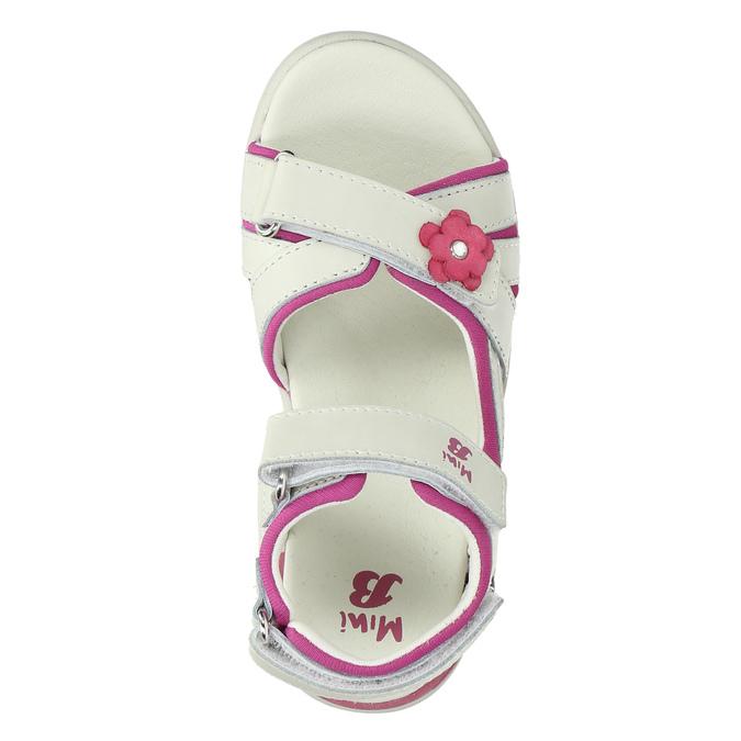 Kožené sandály na suché zipy mini-b, bílá, 263-1603 - 19