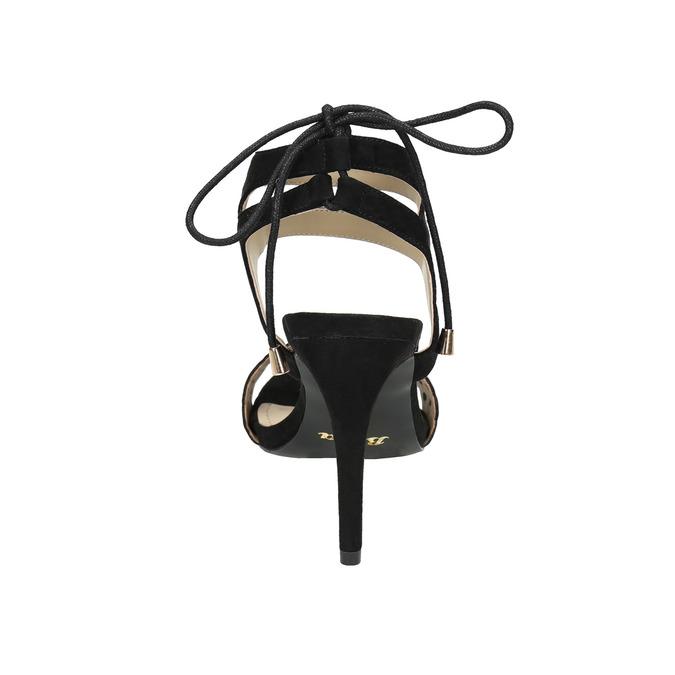 Černé sandály na jehlovém podpatku bata, černá, 769-6603 - 17