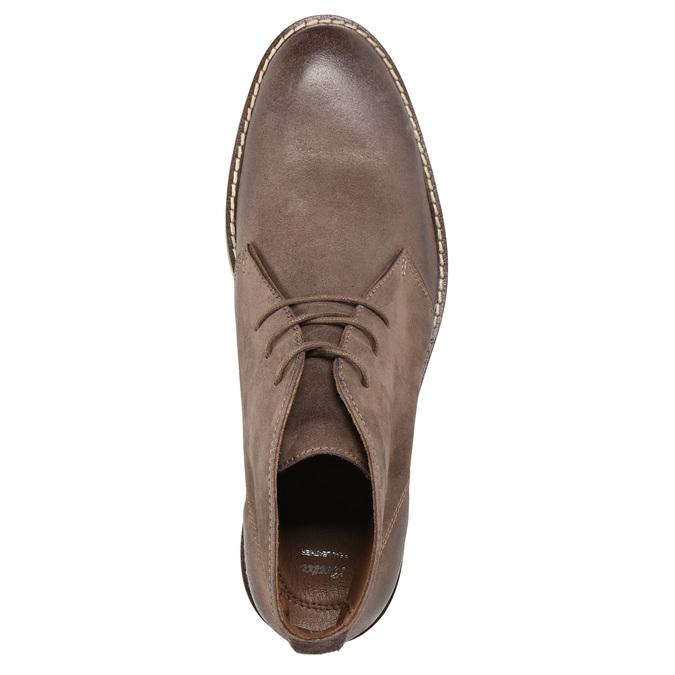 Kožená kotníčková obuv bata, hnědá, 826-4600 - 19