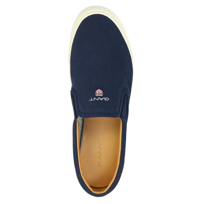 Pánská modrá Slip-on obuv gant, modrá, 819-9033 - 19