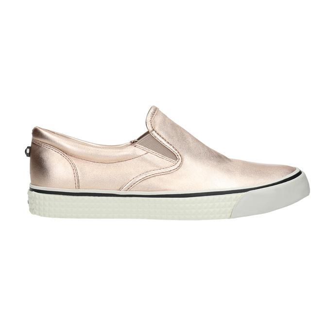 Zlatá dámská obuv ve stylu Slip-on diesel, růžová, 504-8437 - 15