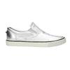 Kožená stříbrná Slip-on obuv diesel, stříbrná, 504-1437 - 15