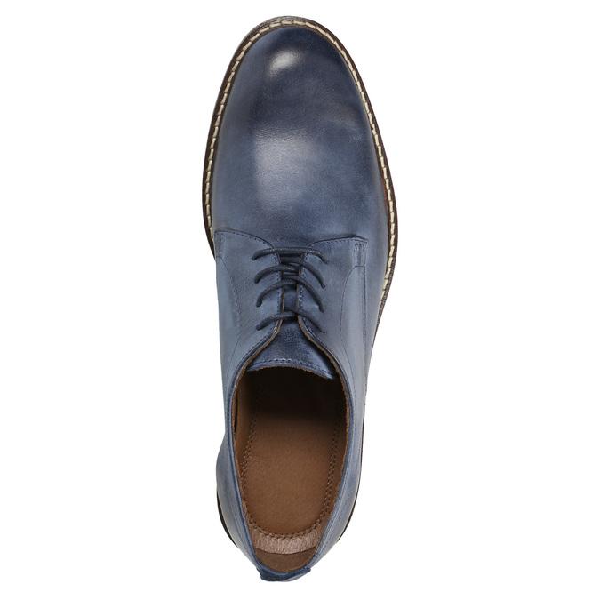 Modré kožené polobotky bata, modrá, 826-9601 - 19