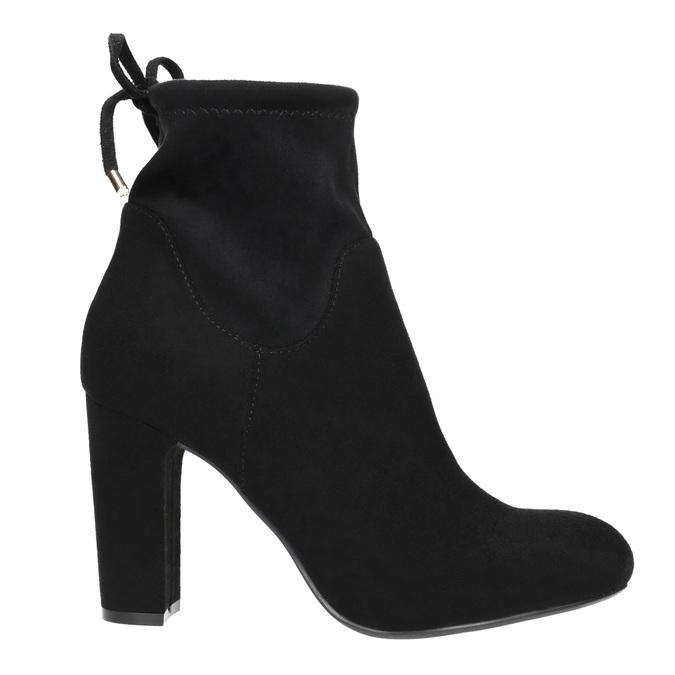 Kotníčkové kozačky na podpatku bata, černá, 799-6604 - 15