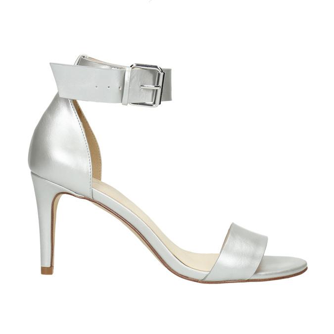 Stříbrné sandály na podpatku insolia, stříbrná, 761-1608 - 15