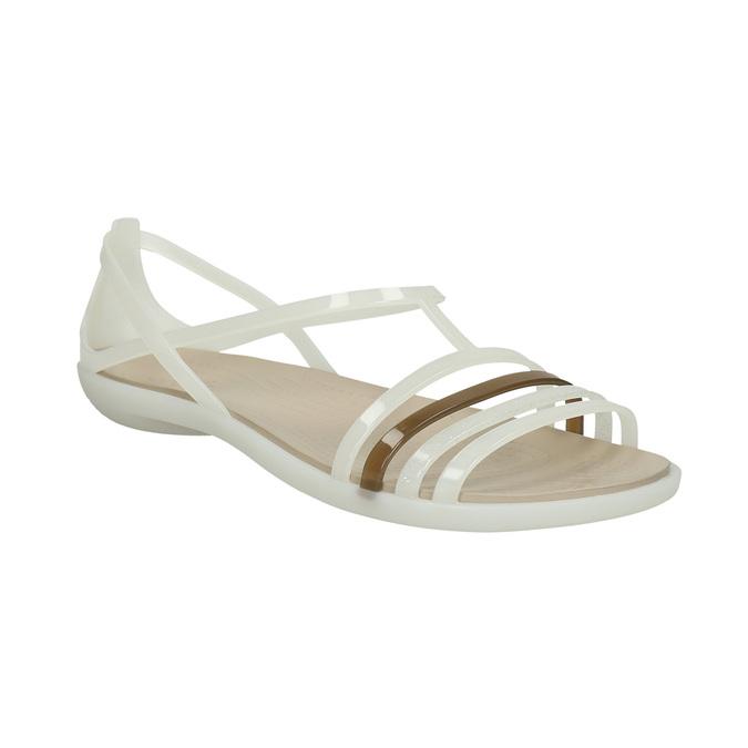 Dámské sandály s překříženými pásky crocs, bílá, 562-1067 - 13