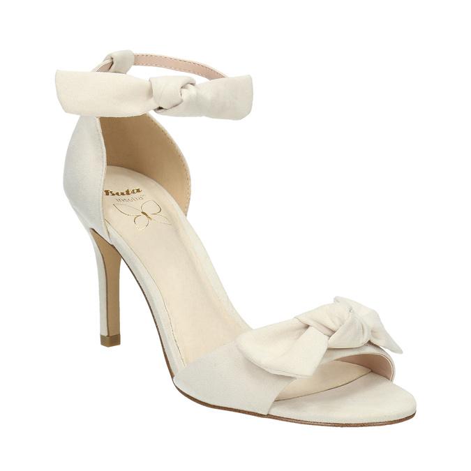 Dámské sandály s mašlí insolia, béžová, 769-1614 - 13