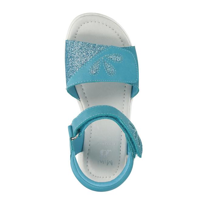 Dívčí tyrkysové sandály mini-b, tyrkysová, 261-9688 - 19