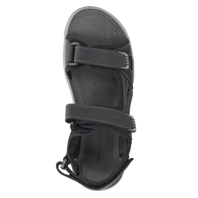 Kožené pánské sandály weinbrenner, černá, 866-6630 - 19