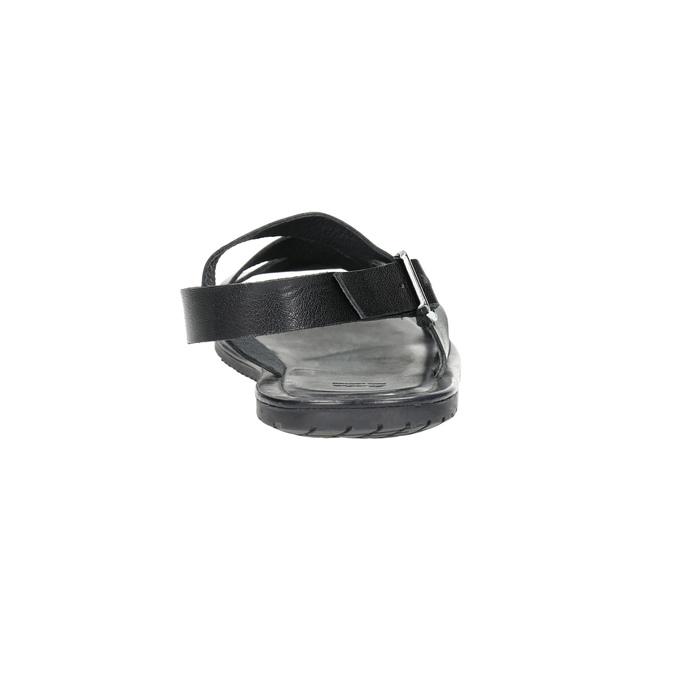 Pánské kožené sandály černé bata, 2021-864-6604 - 17