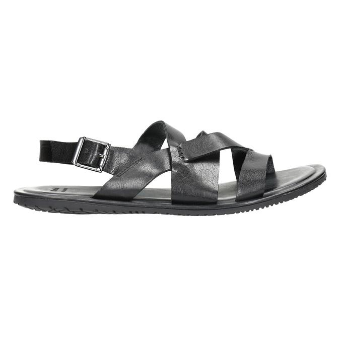 Pánské kožené sandály černé bata, 2021-864-6604 - 15