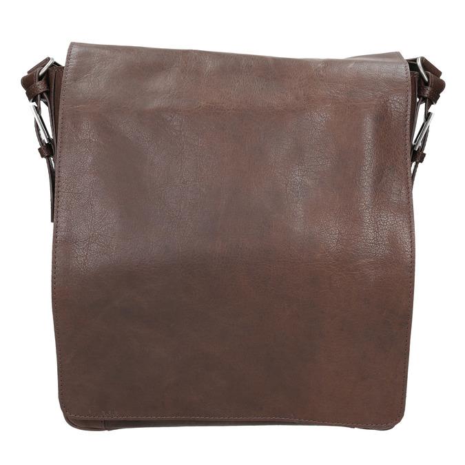Kožená taška v Crossbody střihu bata, hnědá, 964-4222 - 26