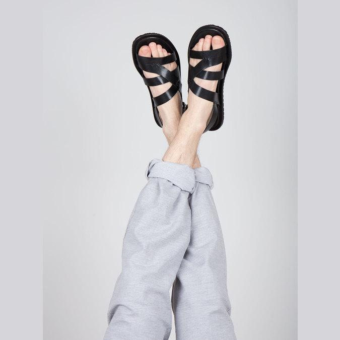 Pánské kožené sandály černé bata, 2021-864-6604 - 18
