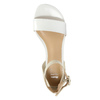 Kožené dámské sandály bata, bílá, 568-1606 - 19