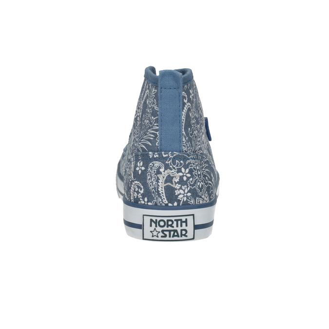 Kotníčkové dámské tenisky se vzorem north-star, modrá, 589-9442 - 17