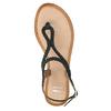 Dámské kožené sandály s propletením bata, černá, 566-6621 - 19