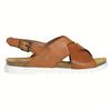 Dámské kožené sandály s propletením weinbrenner, hnědá, 566-4628 - 15