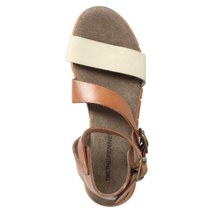 Kožené sandály na výrazné podešvi weinbrenner, hnědá, 566-4627 - 19