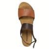 Kožené sandály na bílé podešvi weinbrenner, hnědá, 566-4629 - 19