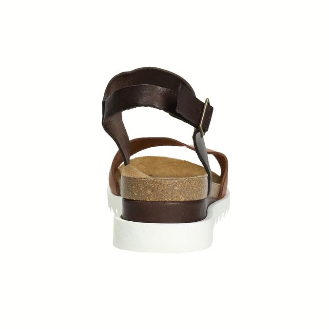Kožené sandály na bílé podešvi weinbrenner, hnědá, 566-4629 - 17