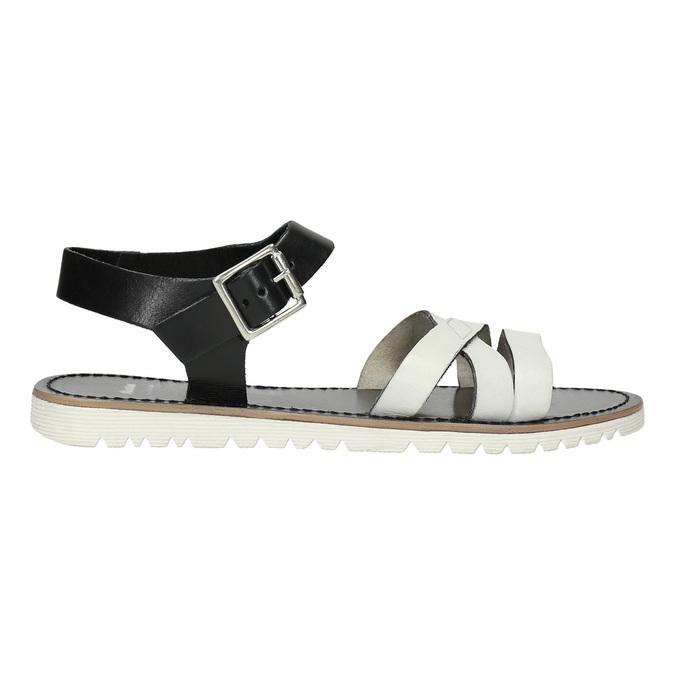 Ležérní kožené sandály bata, bílá, 566-1615 - 15