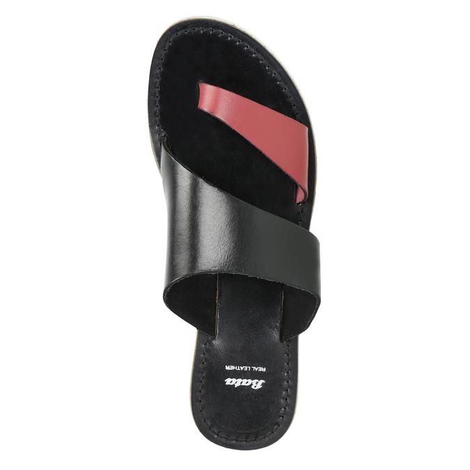 Dámské kožené nazouváky bata, černá, 566-5614 - 19