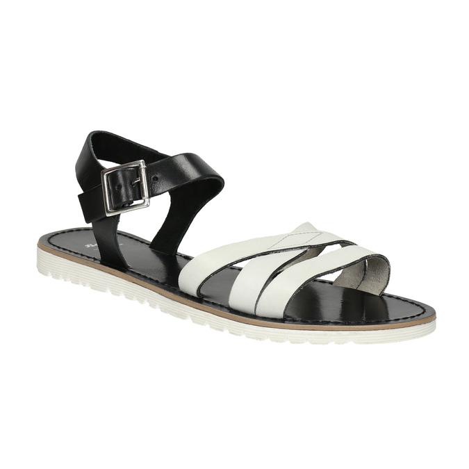 Ležérní kožené sandály bata, bílá, 566-1615 - 13