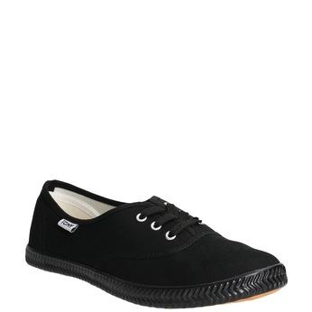 Černé dámské tenisky tomy-takkies, černá, 589-6180 - 13