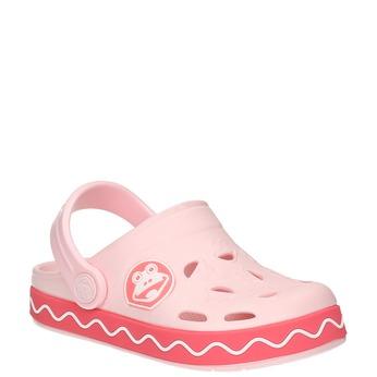 Růžové sandály s žabkou coqui, růžová, 272-5603 - 13