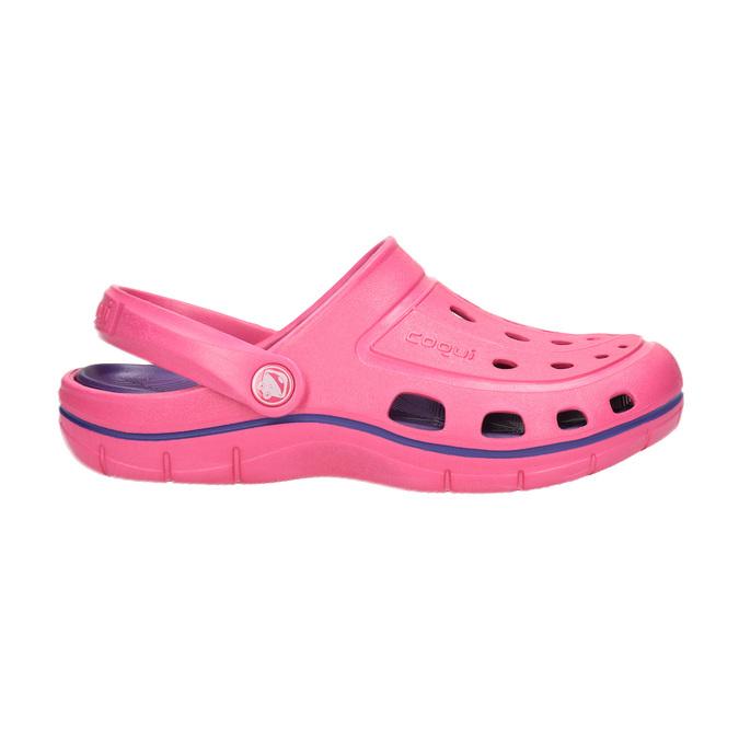 Růžové dámské sandály coqui, růžová, 572-5606 - 15