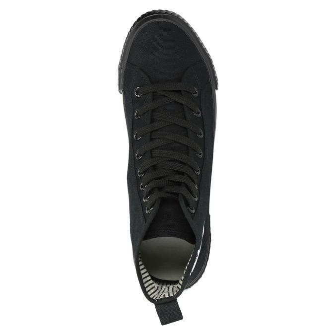 Černé kotníčkové tenisky tomy-takkies, černá, 589-6173 - 19