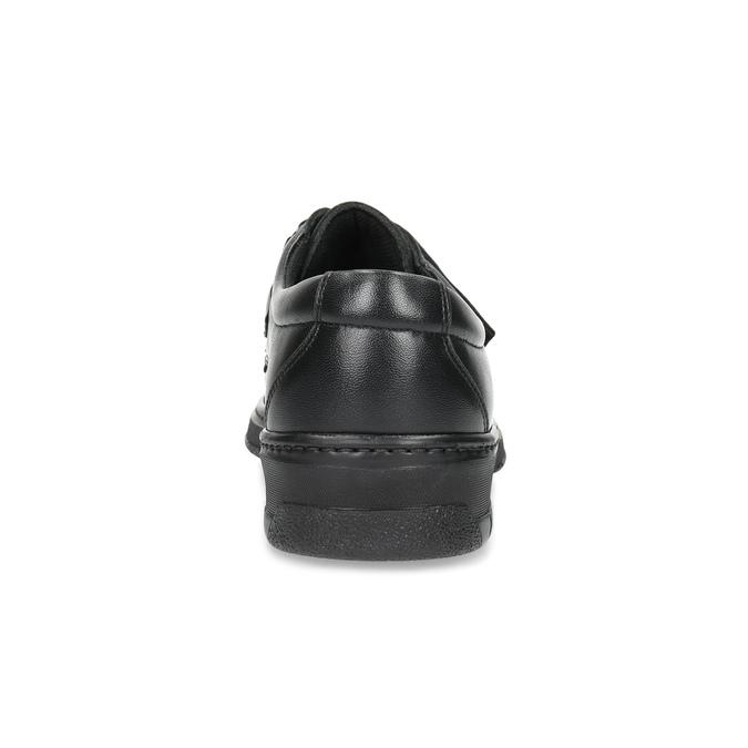 Pánské kožené mokasíny se suchým zipem pinosos, černá, 824-6543 - 15