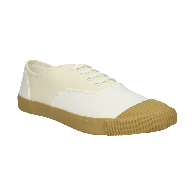 Dámské tenisky s gumovou špicí bata-tennis, bílá, 889-1402 - 13