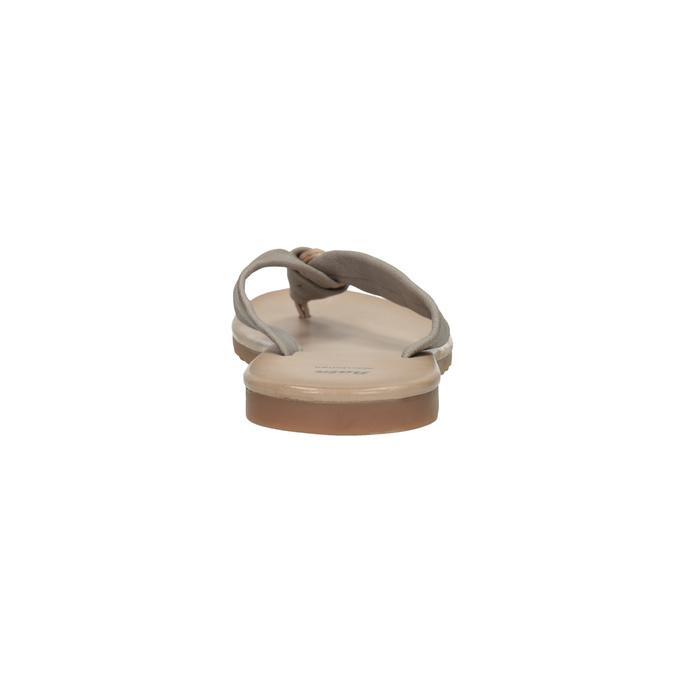 Dámské kožené žabky bata, šedá, 566-2607 - 17