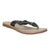 Dámské kožené žabky bata, černá, 566-6607 - 13