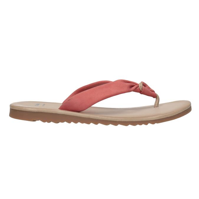 Kožené dámské žabky bata, červená, 566-5607 - 15