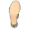 Dámské sandály na podpatku bata, šedá, 761-2614 - 26