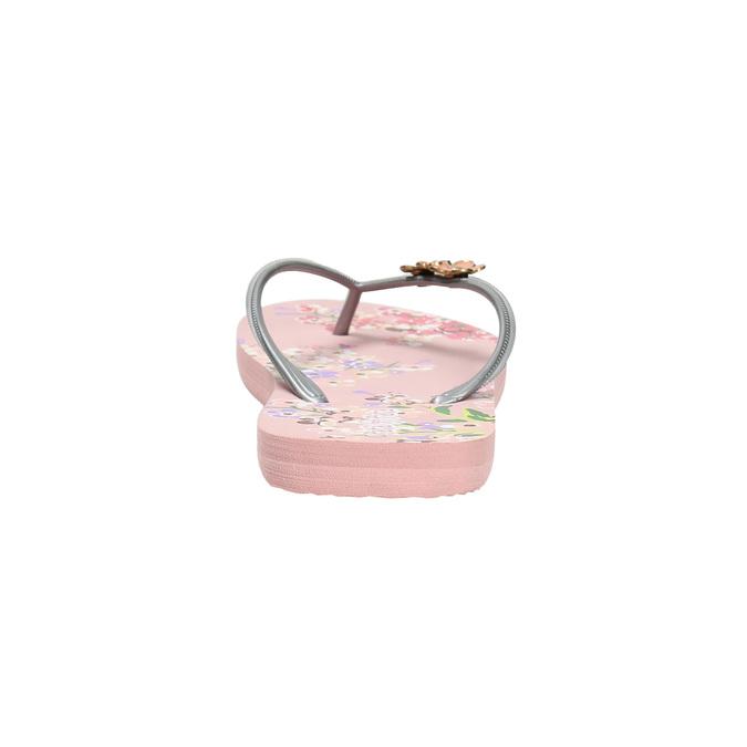 Květinové dámské žabky pata-pata, růžová, 572-2600 - 17