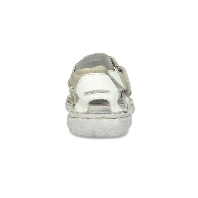 Pánské kožené sandály světlé bata, bílá, 866-1622 - 15