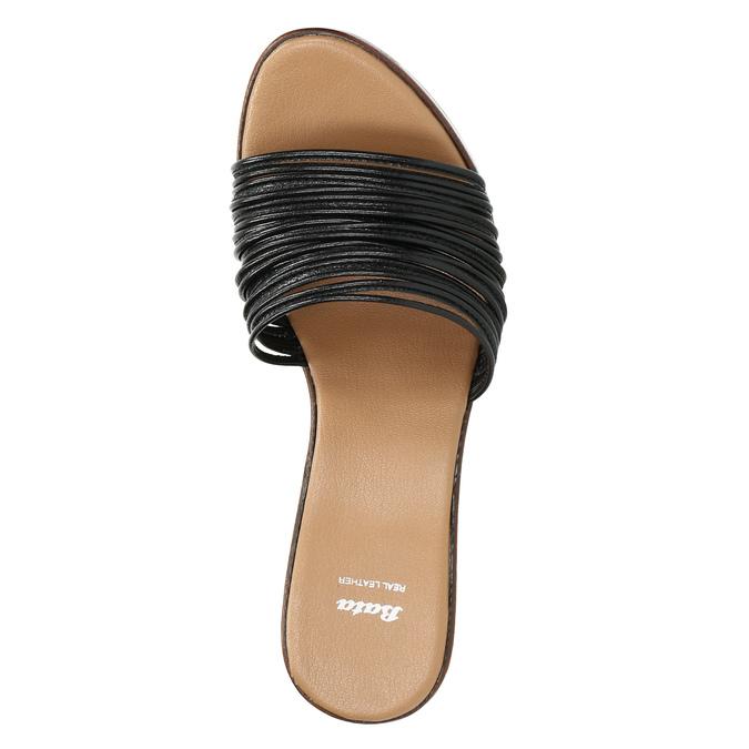 Dámské kožené nazouváky bata, černá, 766-6603 - 19